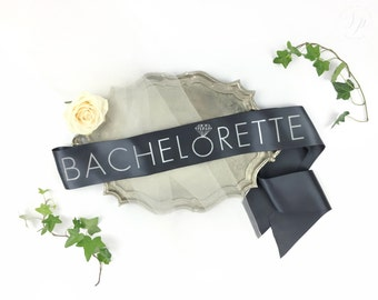 Bachelorette sash -Bride-To-Be Sash with Diamond Ring - bachelorette party accessory - bachelorette sash - bride to be sash