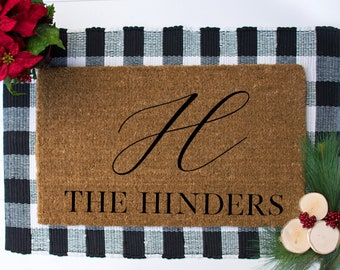 Custom Initial Welcome Doormat