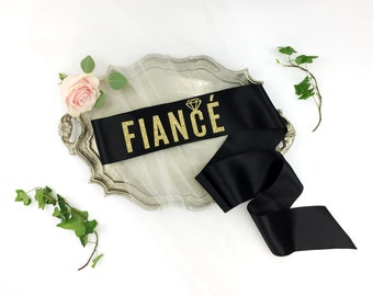 Fiancé sash - Crazy In Love Bachelorette Sash -  bridal sash -  bachelorette party accessory - bride to be sash -bride gift
