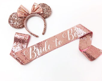 Rose Gold Sequin Bachelorette Sash