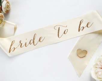 Bride to Be Sash - Bachelorette Sash - Bridal Shower Bachelorette Party Accessory  - Bride Gift - Bride Sash WITH HEART PIN