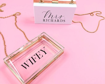 126c0d6c767a5 Personalized Acrylic Clutch