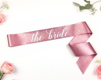 Glitter Bride to Be Sash - Bachelorette Sash - Bachelorette Party - Future Mrs Sash - Bride Sash - Bachelorette Party Sash - rose gold sash