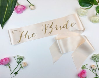 The Bride Sash, Bachelorette Sash, Bride to be Sash, Bride Gift, Bachelorette Party Accessory, bachelorette party sash, bachelorette gift