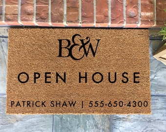 Open House Realtor Doormat