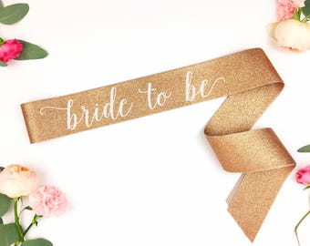 Glitter Bride to Be Sash