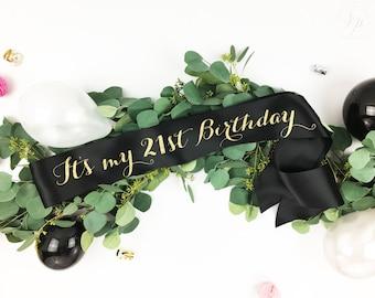 21 Birthday- Finally 21 Sash- Finally Legal Sash- 21st Birthday Sash- 21 Birthday- Finally 21 Legal Sash- Custom Birthday Sash- I'm 21 Sash