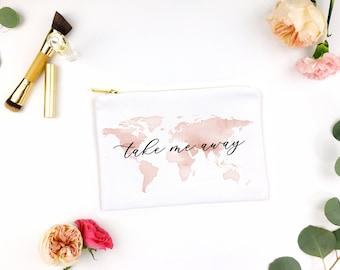 take me away cosmetic bag