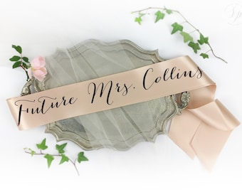 Personalized Future Mrs Sash
