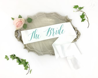 The Bride sash - Bachelorette Sash - Bride to be Sash - bridal shower accessory - bride sash - bride gift - bachelorette party accessory