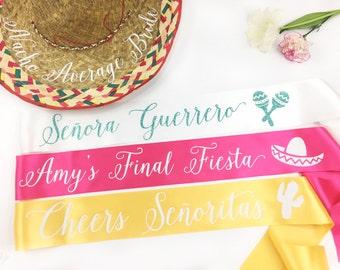 Nacho Average Bride - Fiesta Bachelorette Party - Cinco De Mayo Bach-  Party Sash Pack - bridesmaid sash- Bachelorette Sash - GROUP SASH
