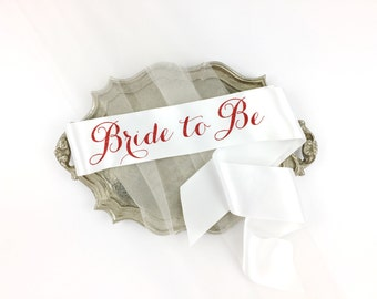 Bride to Be Sash - Bachelorette Sash - Bridal Shower Bachelorette Party Accessory - Satin Bride Sash - Bride Gift - Bride Sash