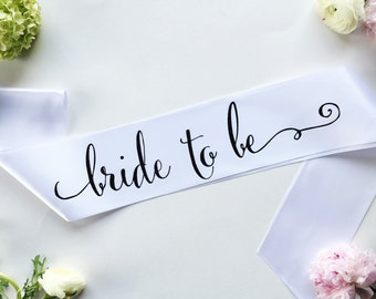 Bride to Be Sash - Bachelorette Sash - Bridal Shower Bachelorette Party Accessory - Bride Gift - Bride Sash