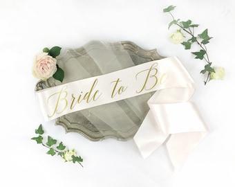 Bride-To-Be Sash - Bachelorette Sash - Bridal Shower Bachelorette Party Accessory - Satin Bride Sash - Bride Gift - Bride Sash