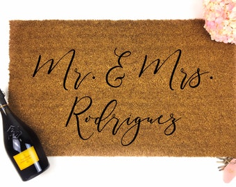 Personalized Mr & Mrs Doormat