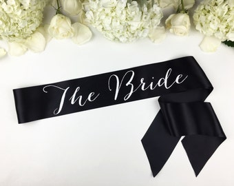 Bride to Be Sash - Bachelorette Sash - Bridal Shower Bachelorette Party Accessory - Satin Bride Sash - Bride Gift - Bride Sash - The Bride