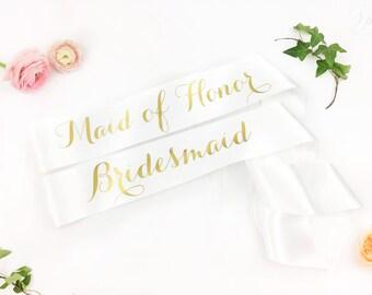 Custom Bachelorette Bridal Party Sash Pack - PACK of bridal party sash- bridesmaid sash- Bachelorette Sash - Satin Bride Sash - GROUP SASHES