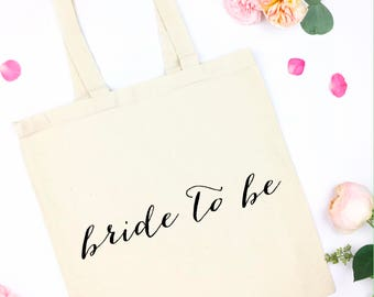 bride to be canvas tote