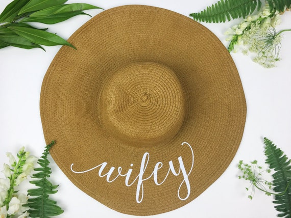 Floppy Sun Hat Sequin Sun Hat Bride Hat Wifey hat  8c9f5df8517