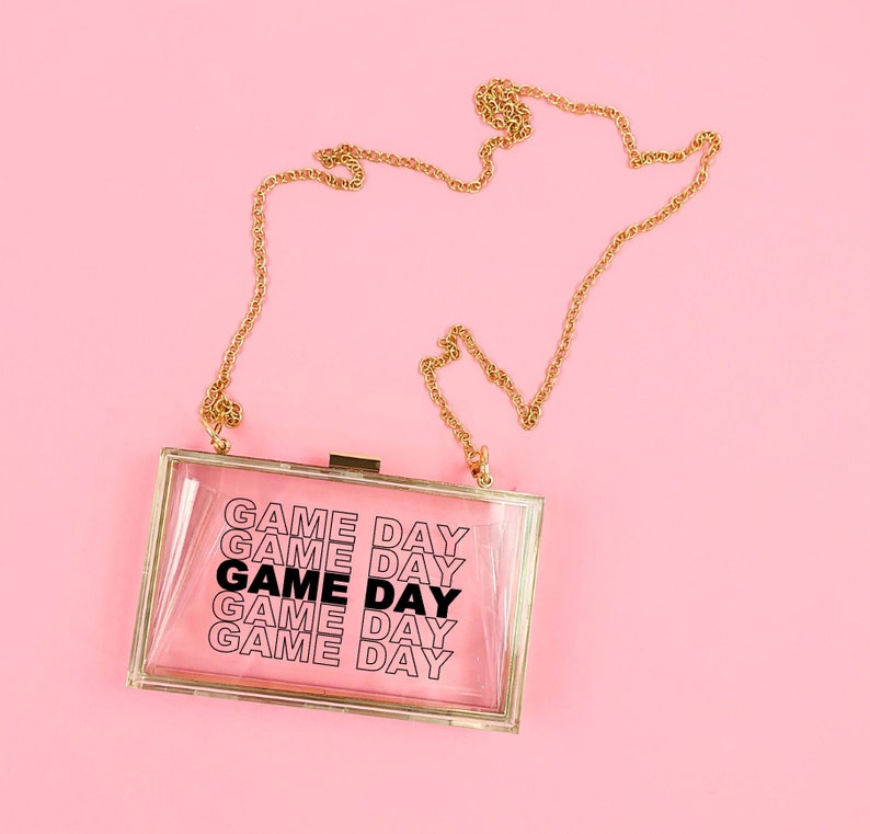 Game Day Bag  Stadium Purse  nfl Purse  tailgate bag  game image 0