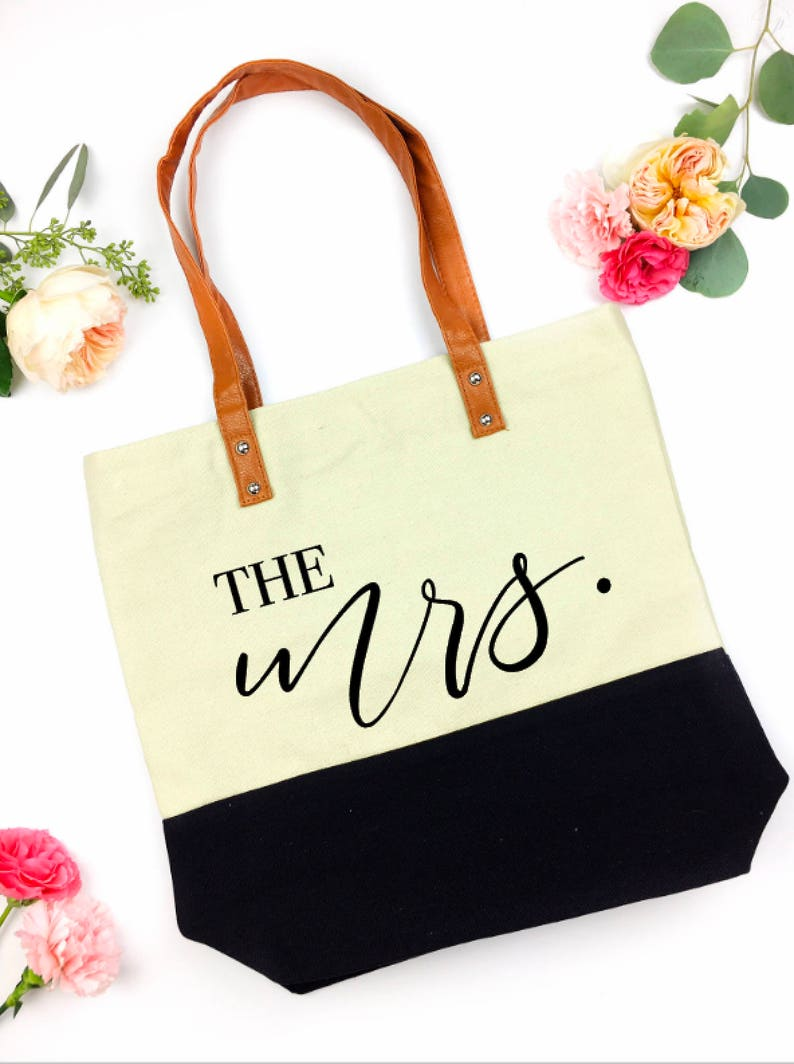 mrs bag  wifey tote  the bride tote  Future Mrs tote  image 0