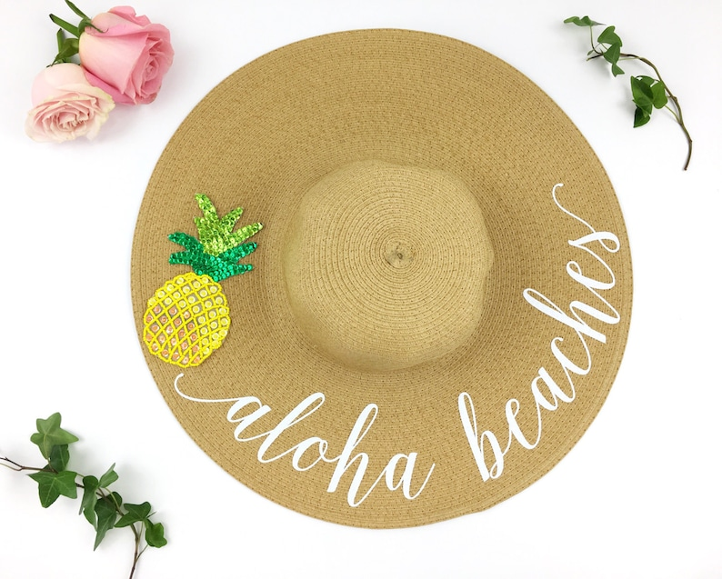 8e0b9445f1a Aloha beaches Hat Floppy Sun Hat Sequin Sun Hat Bride