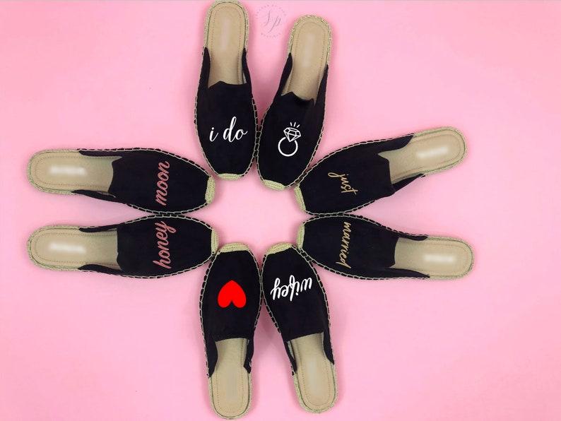 Espadrille mule Bride shoe i do shoe Mrs Gift Bridal Gift image 0