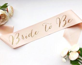 Bride to Be Sash - Bachelorette Sash - Bridal Party- Bridal Shower Bachelorette Party Accessory - Satin Bride Sash - Bride Gift - Bride Sash
