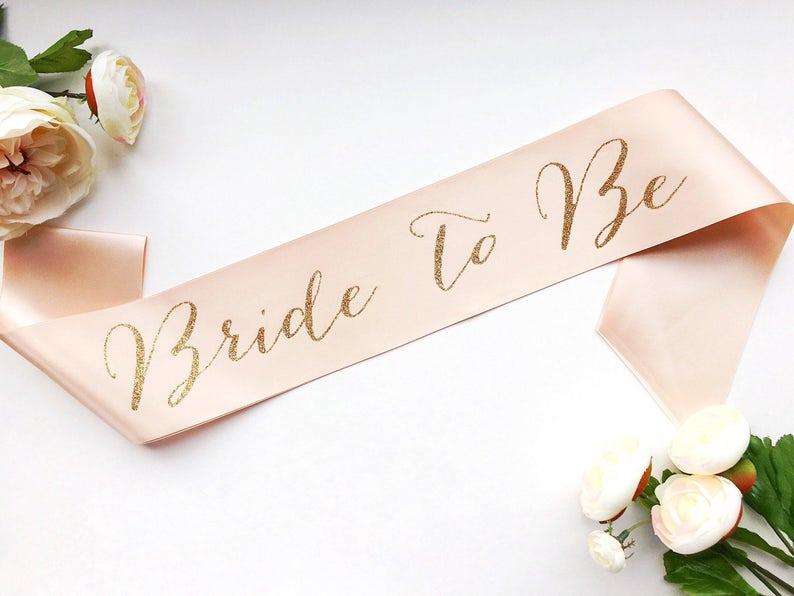 Bride to Be Sash  Bachelorette Sash  Bridal Party Bridal image 1