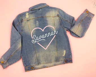 Custom Jean Jacket,  Jacket for Women Valentines Day Gift for Her Personalized Bridesmaid Gift Custom Bride Jacket, Custom Denim, Mrs Jacket
