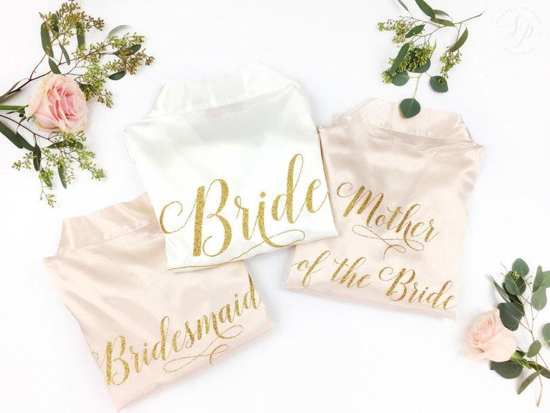 Bridal Robe Group Package  Custom Robes  Wedding Day Robe  image 0