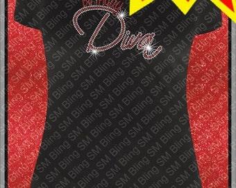 Birthday Diva 2 Rhinestone Template