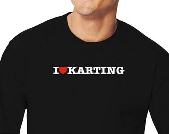 I Love Karting Long Sleeve T-Shirt