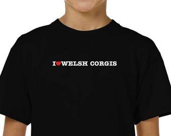 I Love Welsh Corgis Children T-Shirt
