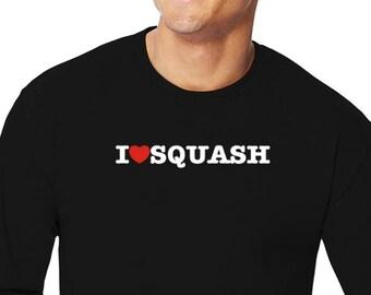 I Love Squash Long Sleeve T-Shirt