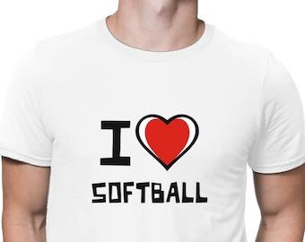I Love Softball T-Shirt