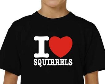 I Heart Love Squirrel With Nut Silhouette Hoodie Sweatshirt