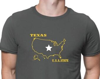 Texas Usa State T-Shirt