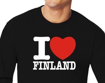 I Love Finland Long Sleeve T-Shirt