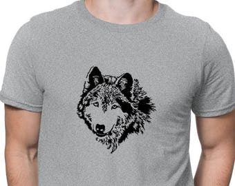 Wolfdog Face Special Graphic T-Shirt