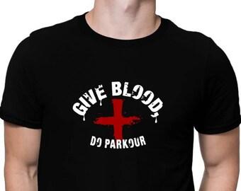 Give Blood, Do Parkour T-Shirt