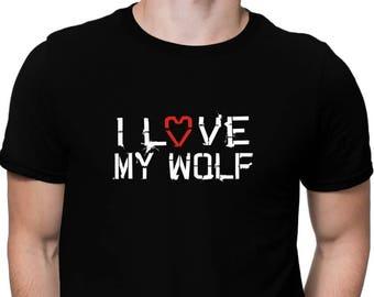 I Love My Wolf T-Shirt