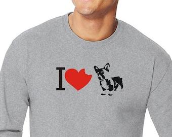 I Love Pembroke Welsh Corgis Long Sleeve T-Shirt 1