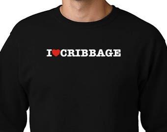 I Love Cribbage Zip Hoodie AVqBHO
