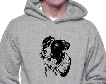 Border Collie Face Special Graphic Hoodie