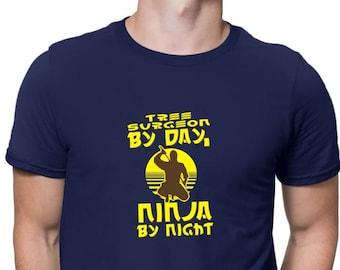 Tree Surgeon Tshirt  Funny Mens Axe Chainsaw T Shirt Funny Lumberjack Tree PT21
