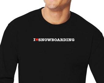 I Love Snowboarding Long Sleeve T-Shirt