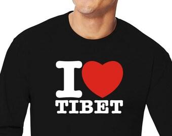 I Love Tibet Long Sleeve T-Shirt