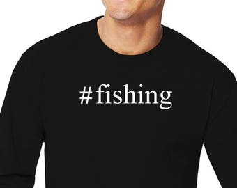 Fishing Hashtag Long Sleeve T-Shirt