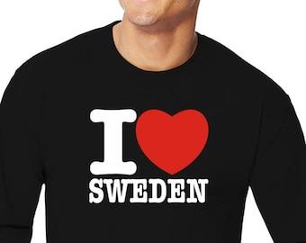 I Love Sweden Long Sleeve T-Shirt